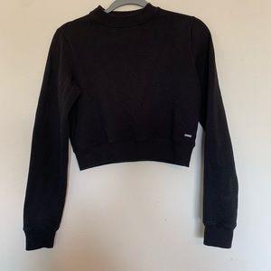 4/$25 Hollister Crop Sweatshirt Black Size XSmall
